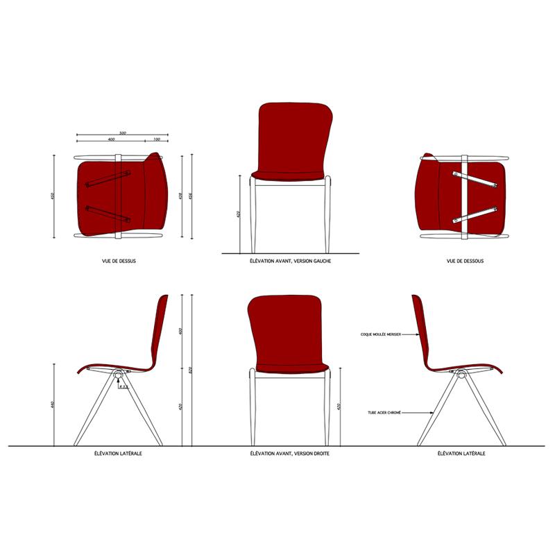 Chaises p le emmanuelle et laurent beaudouin architectes - Dessin de chaise en perspective ...