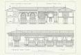 069-1883-1884 CHARLES GARNIER  COUPES ET FACADES DES THERMES DE VITTEL PUBLIÉ DANS LA CONSTRUCTION MODERNE EN 1886