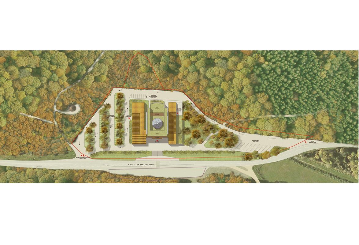 Memorial de verdun emmanuelle et laurent beaudouin for Plan masse architecture