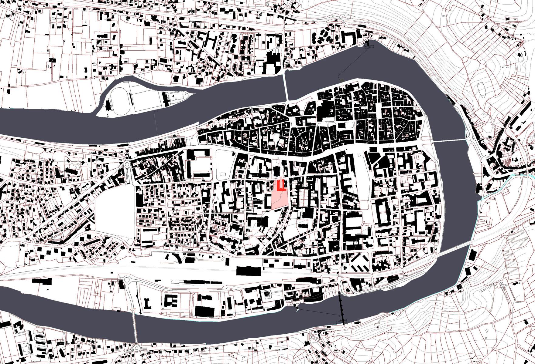 Mus e henri martin cahors emmanuelle et laurent beaudouin architectes - Plan de masse et plan de situation ...
