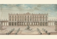 303-GOUACHE-ANONYME-DU-XVIII-SIECLE-PALAIS-DE-L'INTENDANCE-CARRIERE-NANCY